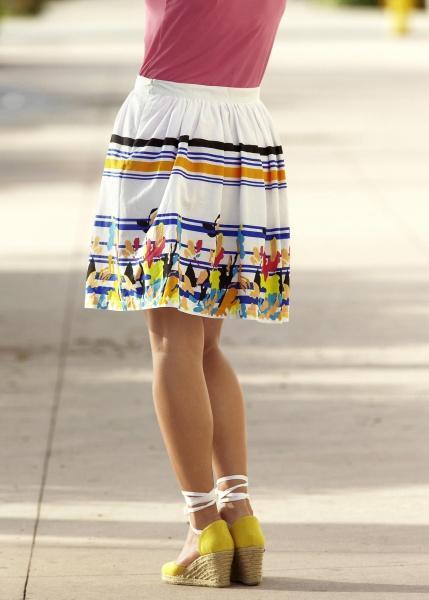 Хлопковая юбка до колен